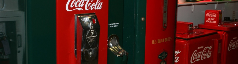 Now a walk to the Coca Cola vending machine will earn you not just a soft drink, but also a portal into cyberspace